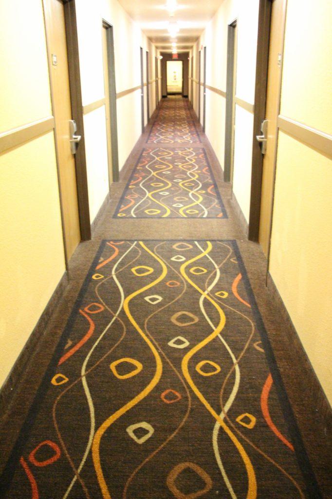 Hallway of Super 8 Ottawa Kansas